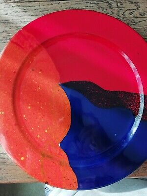 Coppia piatti ceramica Domiziani Deruta (PG)