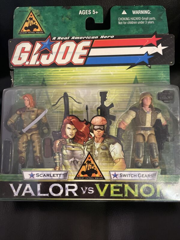GI Joe Scarlett Switch Gears Valor vs Venom