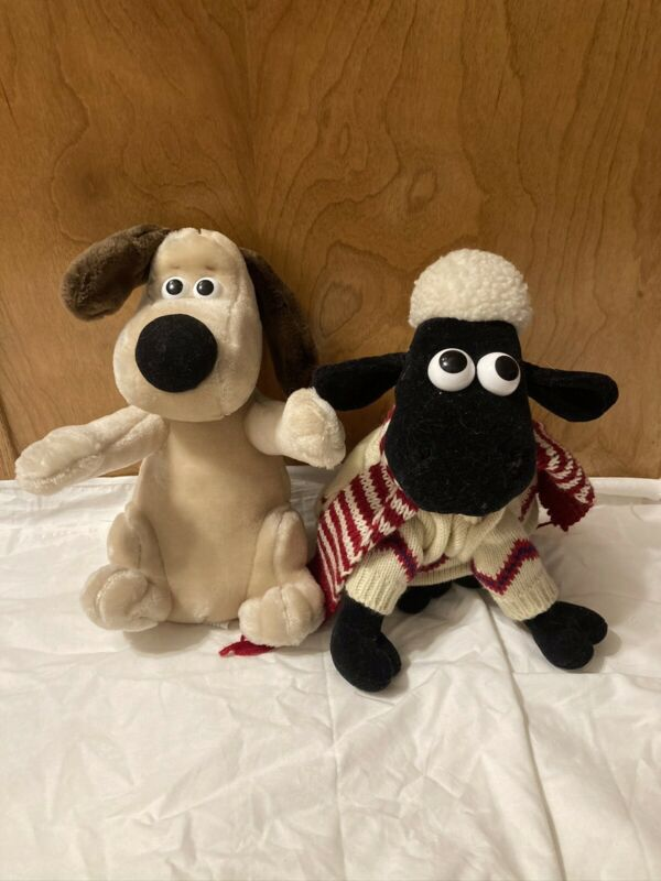 Gromit And Shaun The Sheep Plushes(Wallace And Gromit)!!