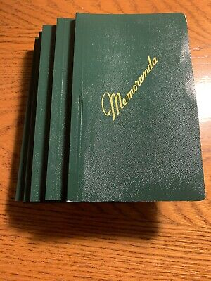 NEW 6 Pack US Army Military Green Memo Book Memorandum Notebook Side Bound