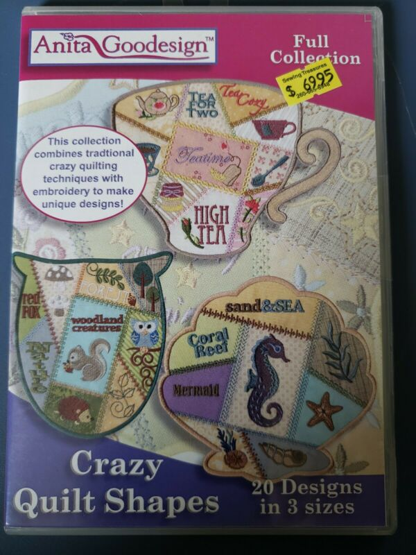 Crazy Quilt Shapes Machine Embroidery Anitagoodesigns