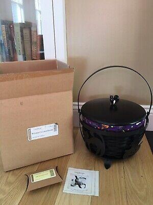 Longaberger Wrought Iron Large Cauldron w Black Basket COMBO complete