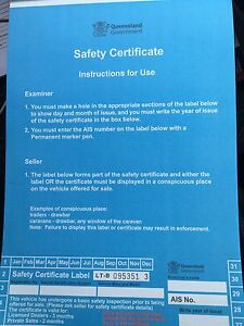 MOBILE RWC / SAFETY CERTIFICATES South Brisbane Brisbane South West Preview