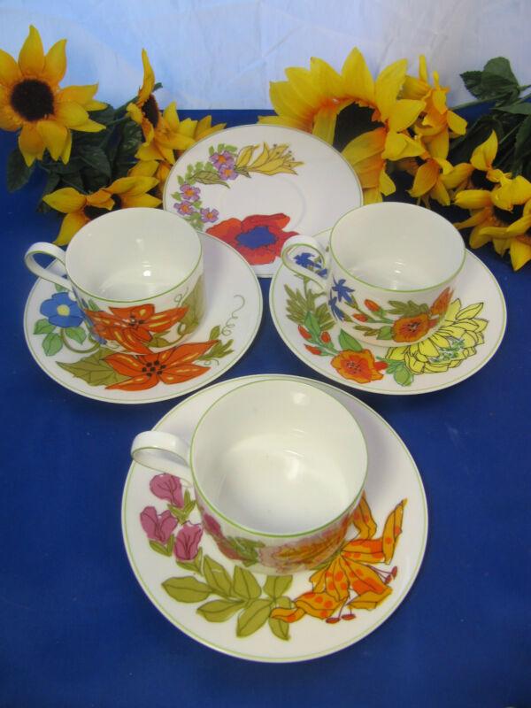 HEINRICH Germany LEMEAU Tastesetter Cups & Saucers Set Of 3