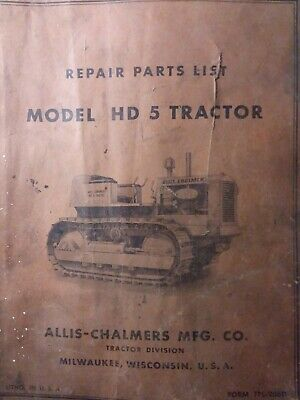 Allis Chalmers Hd 5 Crawler Loader Gm Diesel Tractor Parts Catalog Manual Hd5 Ac
