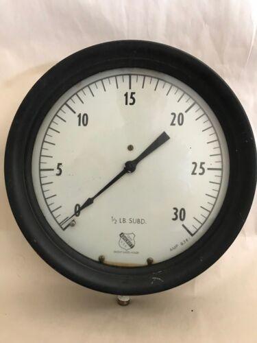 Vintage Large Ashcroft Pressure Gauge 1850 USA Rare