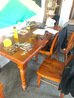 Moving Out Sale Glass Dining Table And 3 Chairs