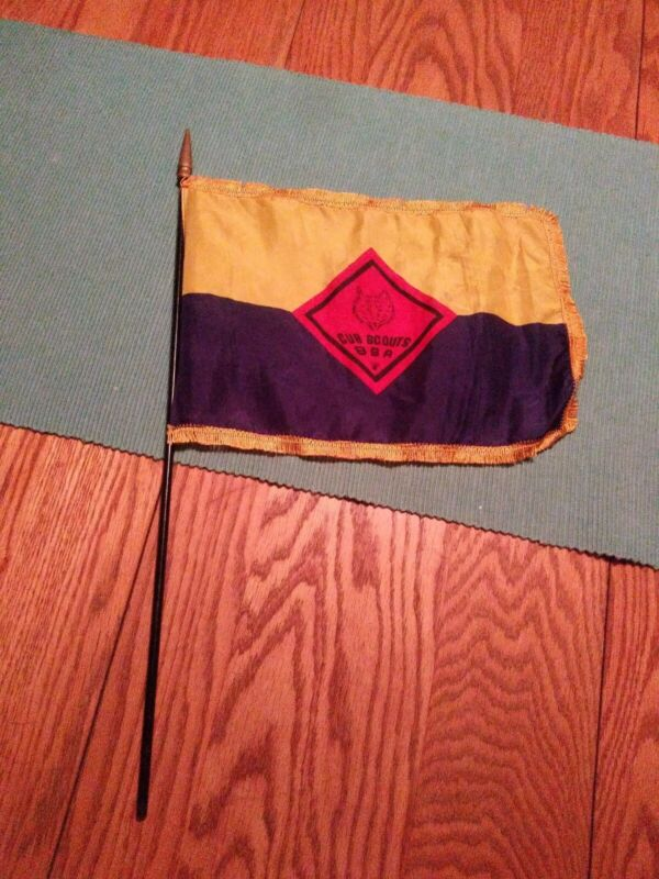 Vintage Cub Scouts BSA Silk Flag 11X9