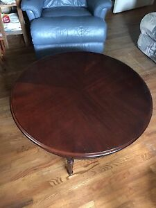 Cherry finish coffee table