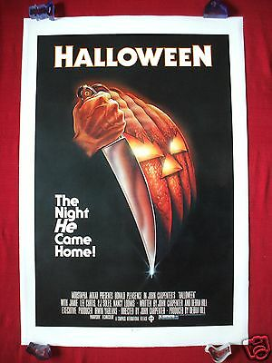 HALLOWEEN * 1978 ORIGINAL MOVIE POSTER 1SH LINEN BACKED BLUE RATINGS BOX BEAUTY](Halloween Movies Ratings)