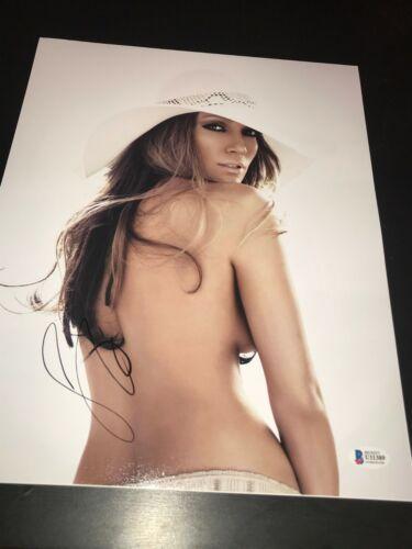 JENNIFER LOPEZ SIGNED AUTOGRAPH 11x14 PHOTO SEXY BABE SUPERBOWL BECKETT BAS D