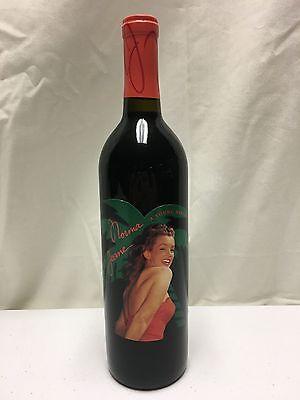 2002 Norma Jeane Marilyn Monroe Merlot Red Wine Full Bottle