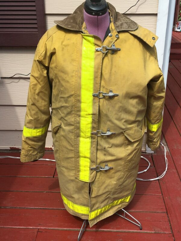 Body Guard Firefighter Yellow Turnout Jacket Coat 44 X 40