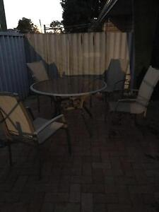 Out door round glass table and 4 chairs Midland Swan Area Preview