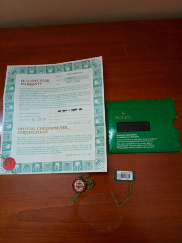 ROLEX Certificate Guarantee Warranty Serial A Oyster Perpetual 15210