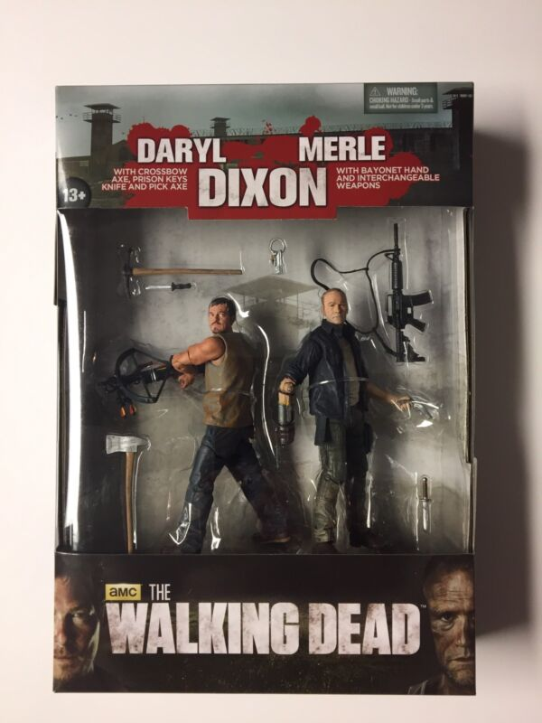 Daryl And Merle Dixon Walking Dead 2 Pack Figure Set Near Mint New McFarlane WOW