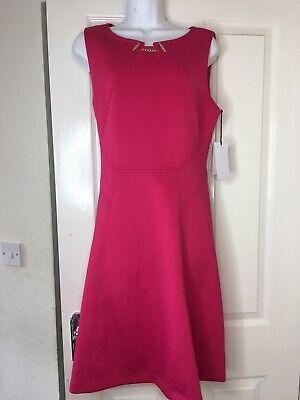 Ivanka Trump Deep Pink Dress Size 14 (E01).