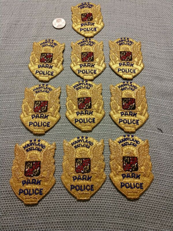 Maryland National Capital Park Police Maryland Md police lot of 10