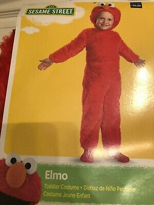 DISGUISE Elmo TODDLER COSTUME SZ: S/2T Soft Sesame Street~Dress Up/Play