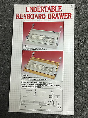 Undertable Keyboard Drawer, model KD-4P Plastic ()