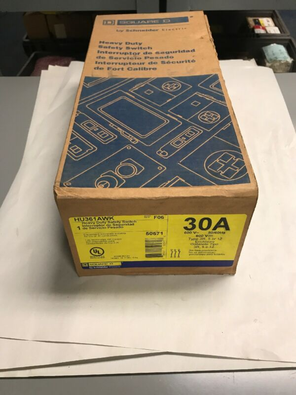 Square D HU361AWK Heavy Duty Safety Switch 30AMP Brand New still in Sealed box