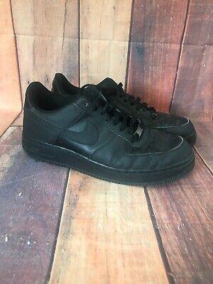 NIKE AIR FORCE 1 One Mens AF-1 82 LOW 07' Black Sneakers 315122-023 Size (Af1 Sneakers)