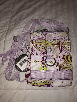 KIPLING El Dorado  Organizer Crossbody Travel Bag Purse AC3312 Butterflies NWT