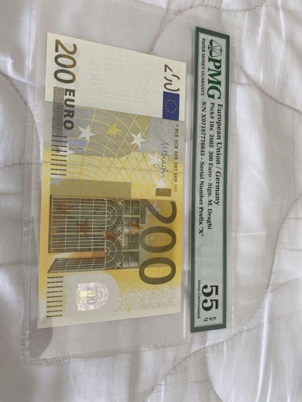 200 euro banknote PMG 55