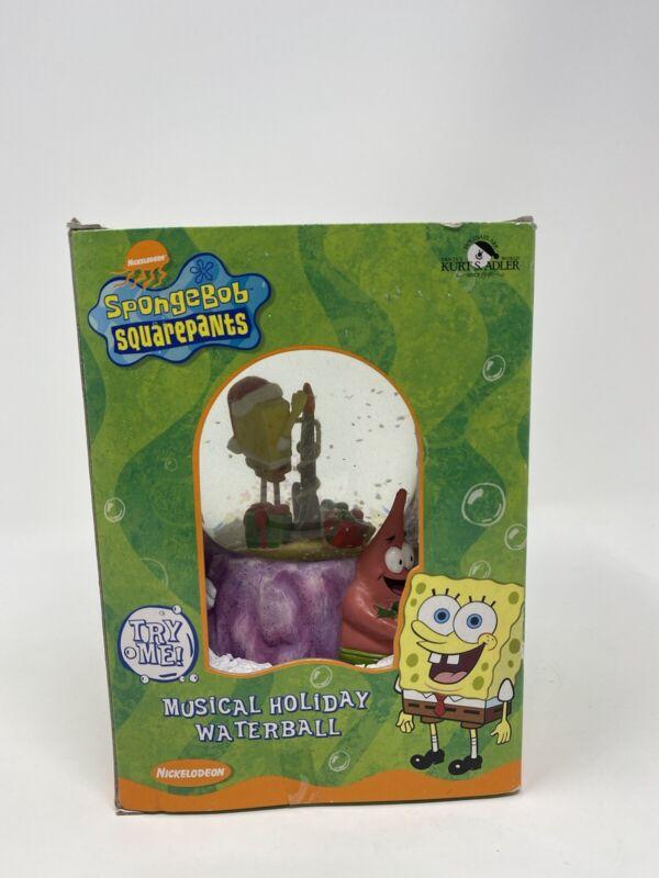 Vintage 2003 Spongebob Square Pants Nickelodeon Kurt Adler Musical Snow Globe