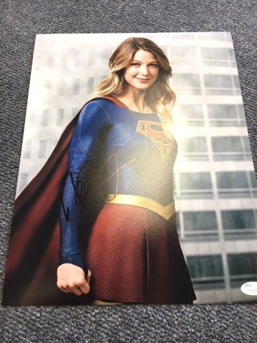 Supergirl Melissa Benoist Autographed Signed 11x14 Photo JSA COA #1
