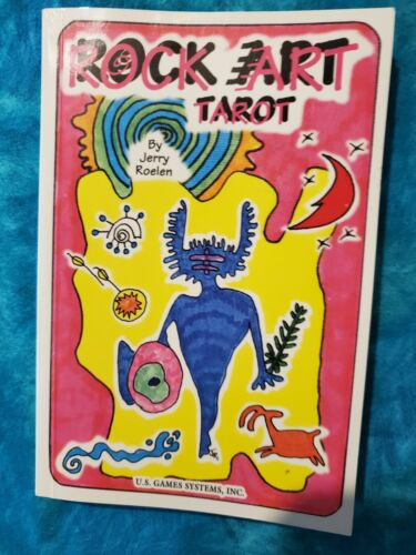 ROCK ART TAROT (BOOK ONLY) by Jerry Roelen. First Edition. 1996. Vintage. OOP