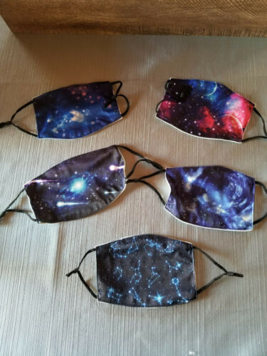 Galaxy Cloth Adjustable Face Mask Lot of 5 New