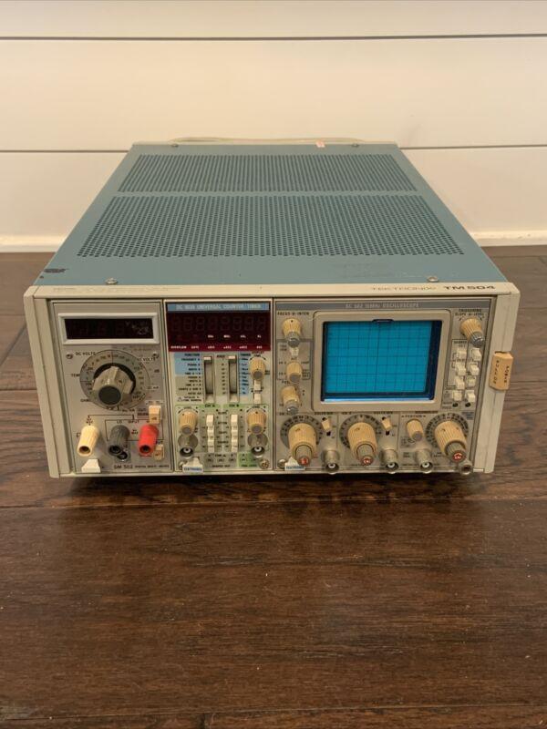 Tektronix TM504 Power Supply Module w/ DM 502, DC 503A, SC 502 Oscilloscope