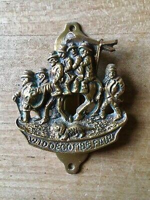Vintage Brass Door Knocker Widdecombe Fair Small Antique
