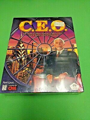 C.E.O. - Big Box PC game NEW SEALED CD-ROM Vintage CNN I-Motion MS-DOS