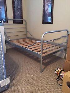 IKEA Logga twin bed frame silver.