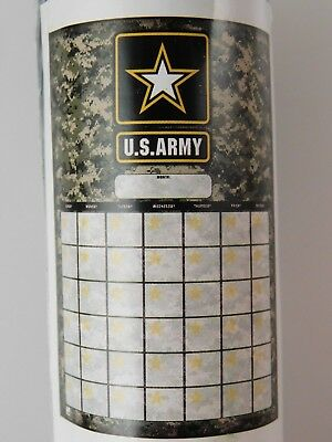 U.s. Army Jumbo Dry Erase Reusable Calendar With Marker