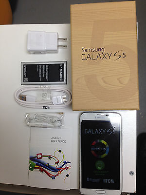 New In Box Samsung Galaxy S5 SM-G900T - 16GB - Shimmery White T-Mobile Phone