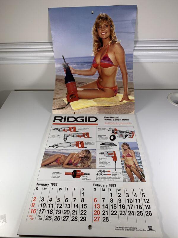 Vintage RIDGID TOOL CALENDAR - 1983-1984* Two Year * Good Condition *