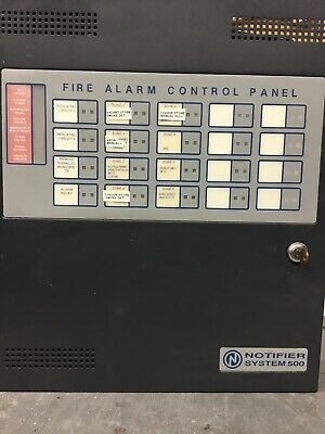 Notifier Model System 500 Protected Premises Fire Alarm Control Panel