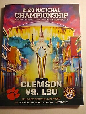 2020 College Football Playoff National Championship Official Gameday Program