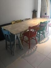 SHABBY CHIC/ VINTAGE/ BOHO Dining Table with 6 mixed chairs NOOSA Noosa Heads Noosa Area Preview