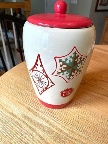 """VINTAGE COCA COLA COOKIE JAR  """"THINGS GO BETTER WITH COKE"""""""