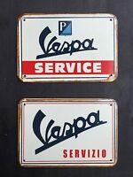 Vespa Funcionamiento & Servizio Vintage & Retro Garaje Letrero De Metal 30x20 Cm - vespa - ebay.es