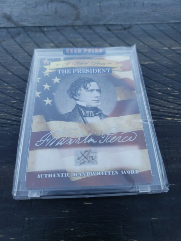 Franklin Pierce Potus A Word From The President Authentic Written Word no box