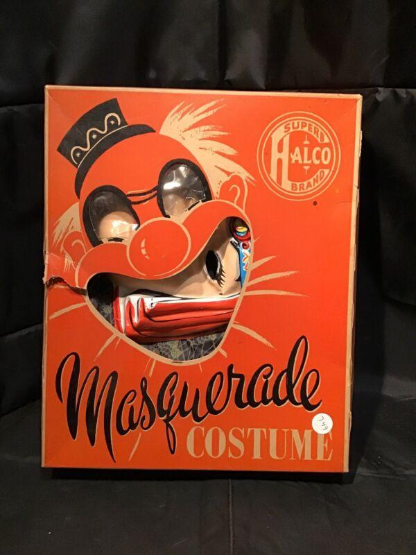 Vintage Superb Halco Brand Masquerade Halloween Costume Original Box