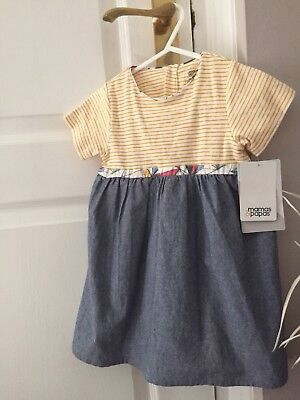 Baby Girls Mamas & Papas Summer Dress 12-18 Months BNWT