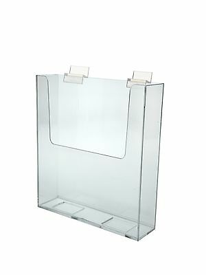 Slatwall Brochure Holder For 9w Literature Clear Acrylic