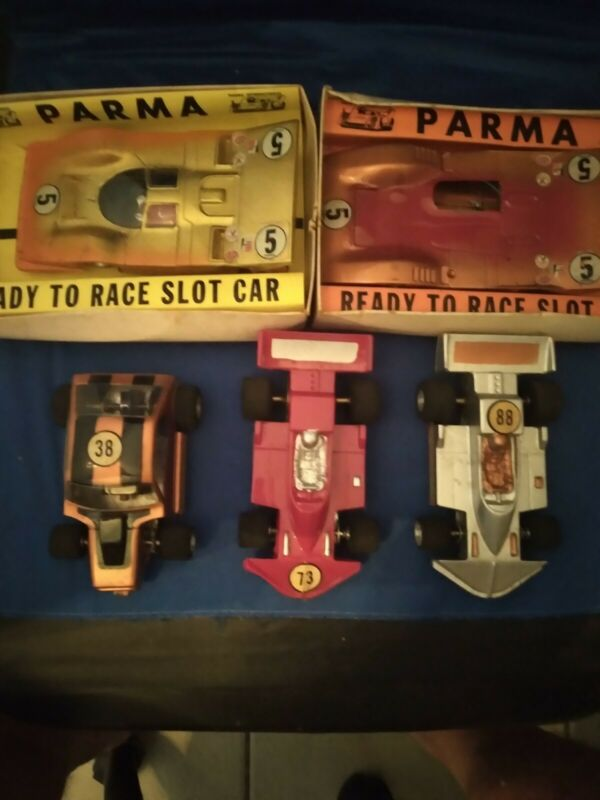 Set Of  (5)  VINTAGE -1/24 used Scale Slot Cars Parma