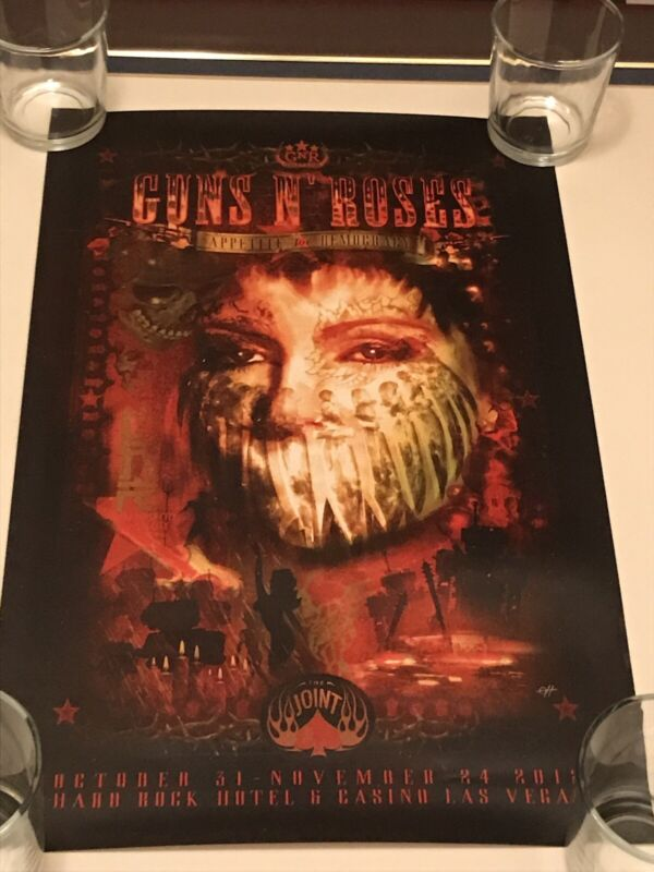 ORIGINAL 2012 GUNS N' ROSES Appetite For Democracy The Joint Hard Rock Poster
